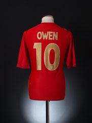 2006-08 England Away Shirt Owen #10 XL.Boys