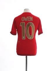 2006-08 England Away Shirt Owen #10 M