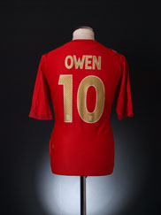 2006-08 England Away Shirt Owen #10 L