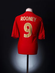 2006-08 England Away Shirt Rooney #9 S