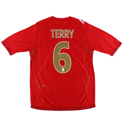 2006-08 England Away Shirt Terry #6 XL
