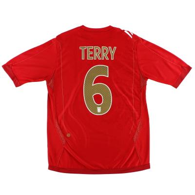 2006-08 England Umbro Away Shirt Terry #6 XL