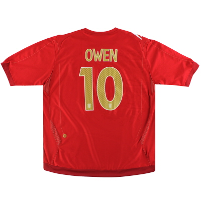 2006-08 England Umbro Away Shirt Owen #10 XXL