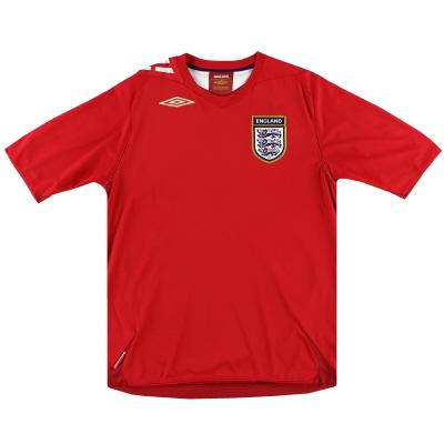 2006-08 England Umbro Away Shirt XL