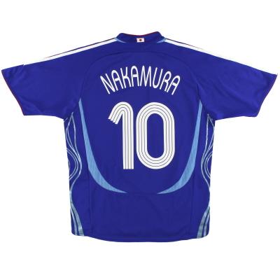 2006-08 Japan adidas Home Shirt Nakamura #10 M/L
