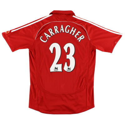 2006-08 Liverpool Home Shirt Carragher #23 M