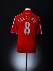 2006-08 Liverpool Home Shirt Gerrard #8 XS
