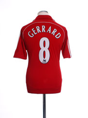 2006-08 Liverpool Home Shirt Gerrard #8 L