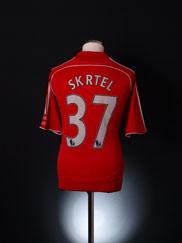 2006-08 Liverpool Home Shirt Skrtel #37 L