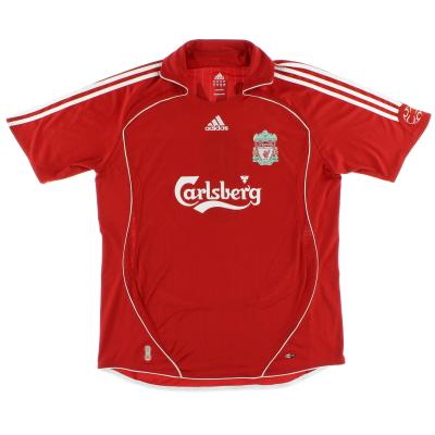 2006-08 Liverpool adidas Home Shirt M