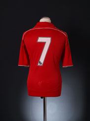 2006-08 Liverpool Reserves Match Issue Home Shirt #7 *Mint* XL