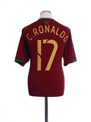 2006-08 Portugal Home Shirt C.Ronaldo #17 XL