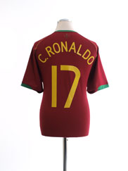 2006-08 Portugal Home Shirt C. Ronaldo #17 M