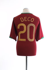 2006-08 Portugal Home Shirt Deco #20 XL