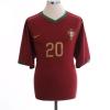 2006-08 Portugal Home Shirt Deco #20 XL
