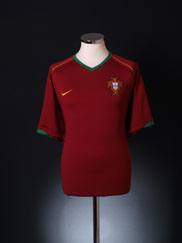 2006-08 Portugal Home Shirt *Mint* XL