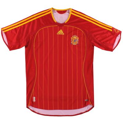 2006-08 Spain adidas Home Shirt S