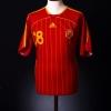 2006-08 Spain Home Shirt Fabregas #18 M