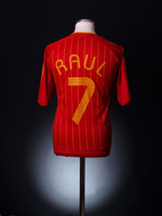 2006-08 Spain Home Shirt Raul #7 XL