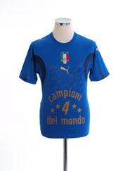 2006 Italy 'Campioni Del Mondo' Signature T-Shirt *BNWT* XL.Boys