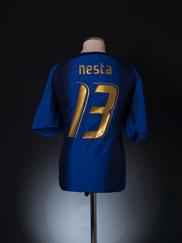 2006 Italy Home Shirt Nesta #13 XL