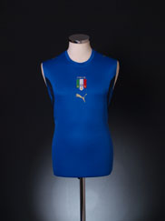 2006 Italy Sleeveless Home Shirt XL