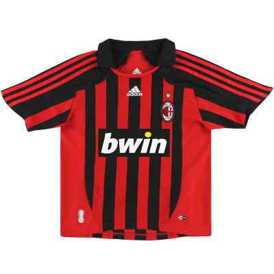 2007-08 AC Milan adidas Home Shirt M.Boys