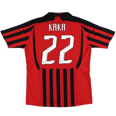 2007-08 AC Milan Home Shirt Kaka #22 L
