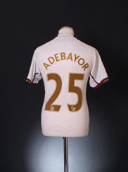 2007-08 Arsenal Away Shirt Adebayor #25 S