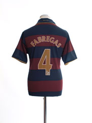 2007-08 Arsenal Third Shirt Fabregas #4 M