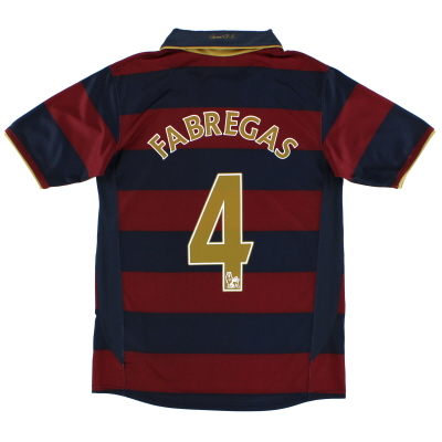2007-08 Arsenal Third Shirt Fabregas #4 XL.Boys