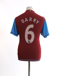 2007-08 Aston Villa Home Shirt Barry #6 M