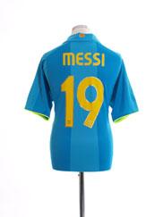 2007-08 Barcelona Away Shirt Messi #19 L