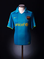 2007-08 Barcelona Away Shirt M.Boys
