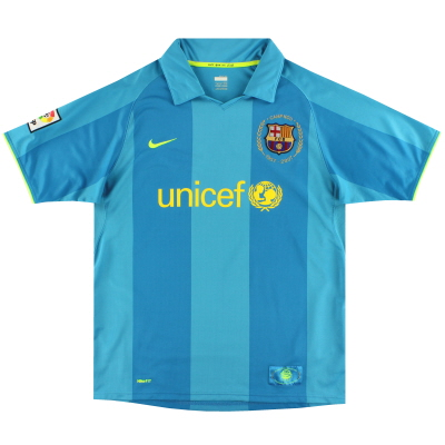 2007-08 Barcelona Away Shirt XS.Boys