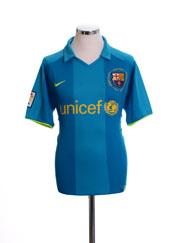 2007-08 Barcelona Away Shirt XL.Boys