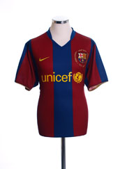 2007-08 Barcelona Home Shirt M.Boys
