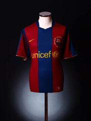 2007-08 Barcelona Home Shirt S.Boys