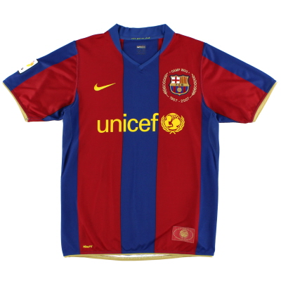 2007-08 Barcelona Nike Home Shirt L.Boys