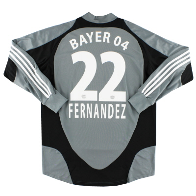 2007-08 Bayer Leverkusen Player Issue Goalkeeper Shirt Fernandez #22 L/S L