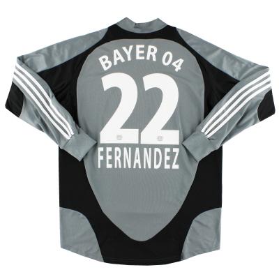 2007-08 Bayer Leverkusen Player Issue GK Shirt Fernandez #22 L