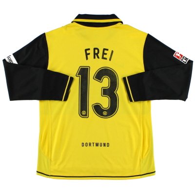 2007-08 Borussia Dortmund Player Issue Home Shirt Frei #13 XL
