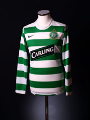 2007-08 Celtic Home Shirt L/S XXL