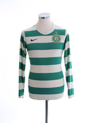 2007-08 Celtic Home Shirt L/S S