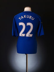 2007-08 Everton Home Shirt Yakubu #22 XL