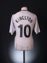 2007-08 Hearts Away Shirt Kingston #10 L