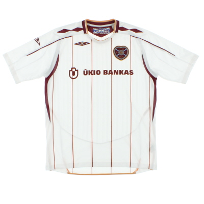 2007-08 Hearts Away Shirt L