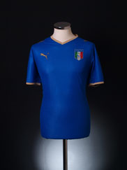 2007-08 Italy Home Shirt L
