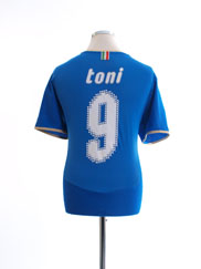 2007-08 Italy Home Shirt Toni #9 XL