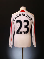2007-08 Liverpool Away Shirt Carragher #23 L/S XXXL